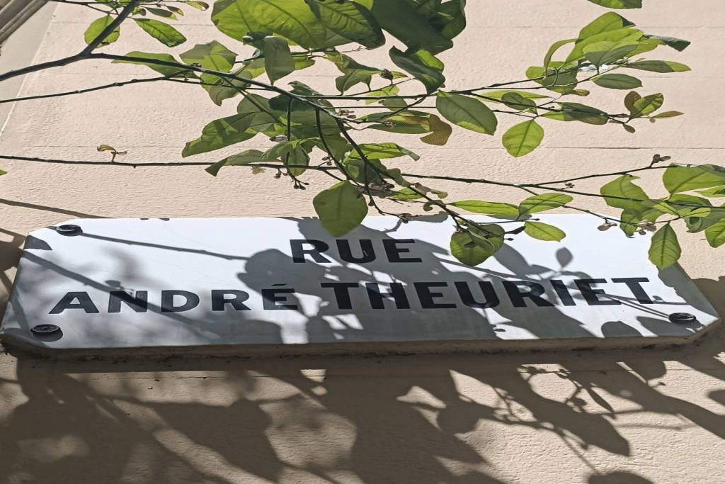 panneau de la Rue André Theuriet à Nice